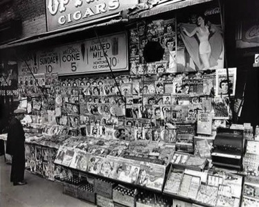 Photo of early news stand